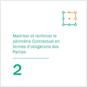 2. Maitriser et renforcer le périmètre Contractuel en termes d'obligations des Parties