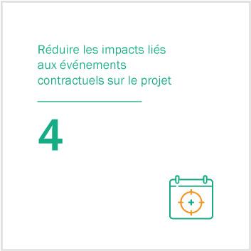4. Réduire les impacts liés aux événements contractuels sur le projet